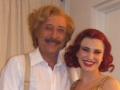 Rosana Laudani con Guillermo Franchella en camarines